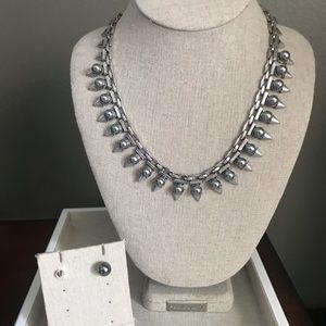 Stella & Dot studded statement necklace &earrings